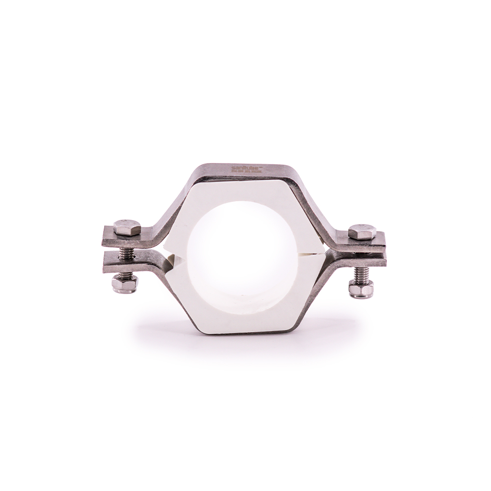 Hexagonal Pipe Hanger with PVC Inserts